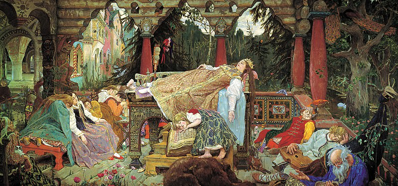 Vasnetsov Victor - Sleeping Princess. 900 Classic russian paintings