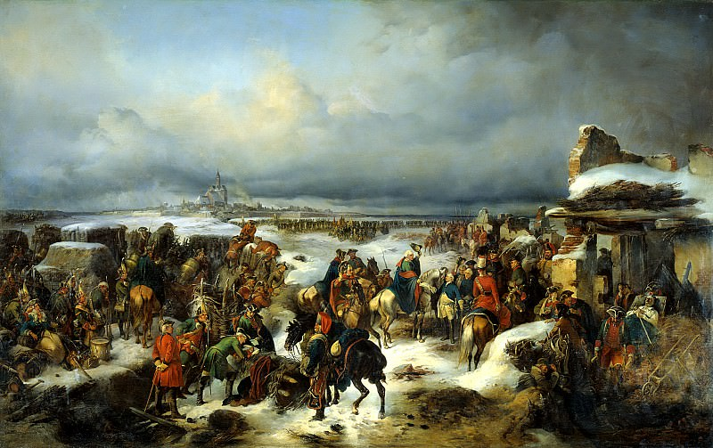 Kotzebue Alexander - Capture of the fortress of Kolberg. 900 Classic russian paintings
