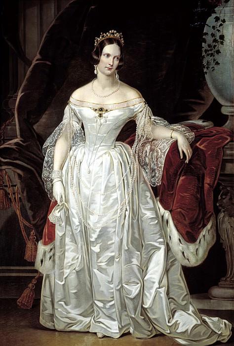 Reichel, Karl - Portrait of Empress Alexandra Feodorovna. 900 Classic russian paintings