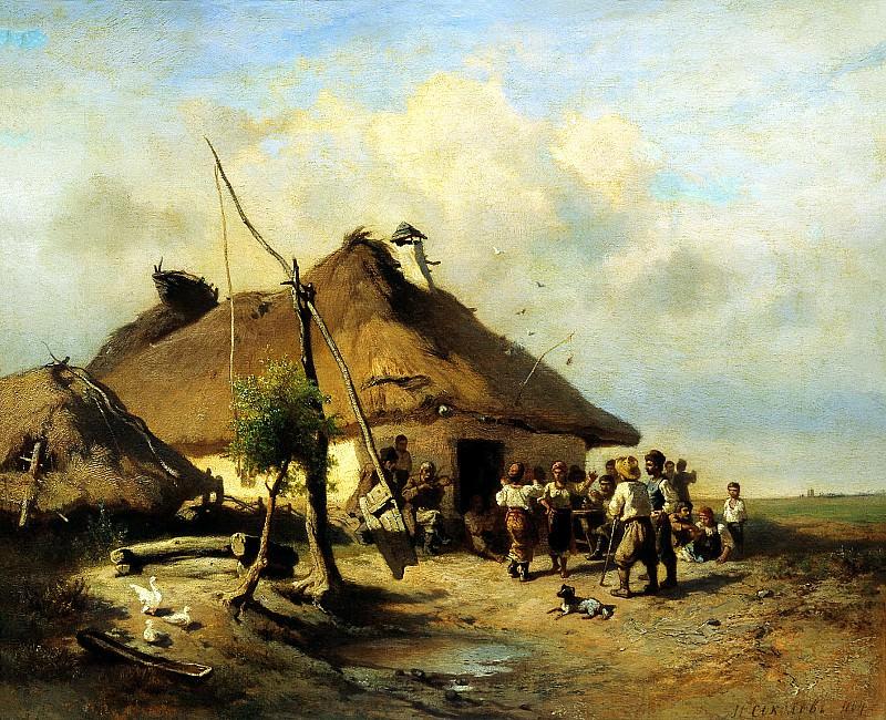 SOKOLOV Ivan - Near the tavern. 900 Classic russian paintings
