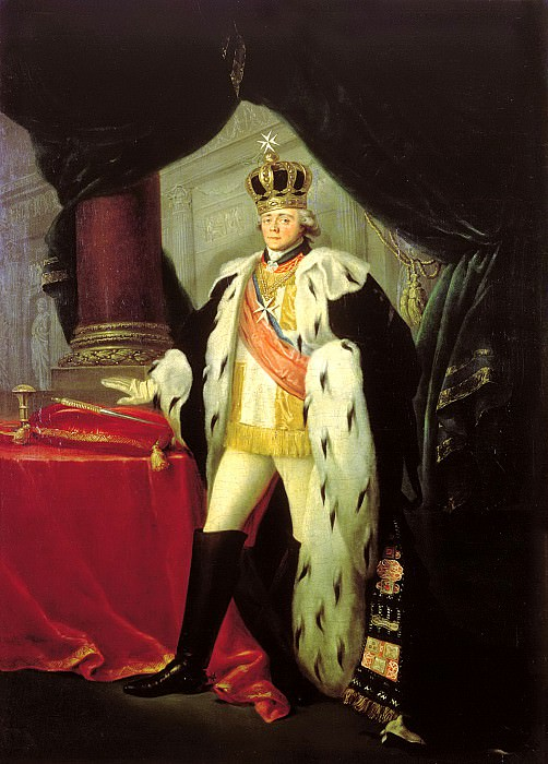 Tonci Salvator - Portrait of Emperor Paul I. 1801. 900 Classic russian paintings