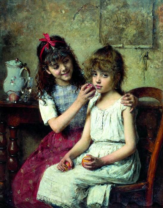 KHARLAMOV Alex - Girlfriend. 900 Classic russian paintings