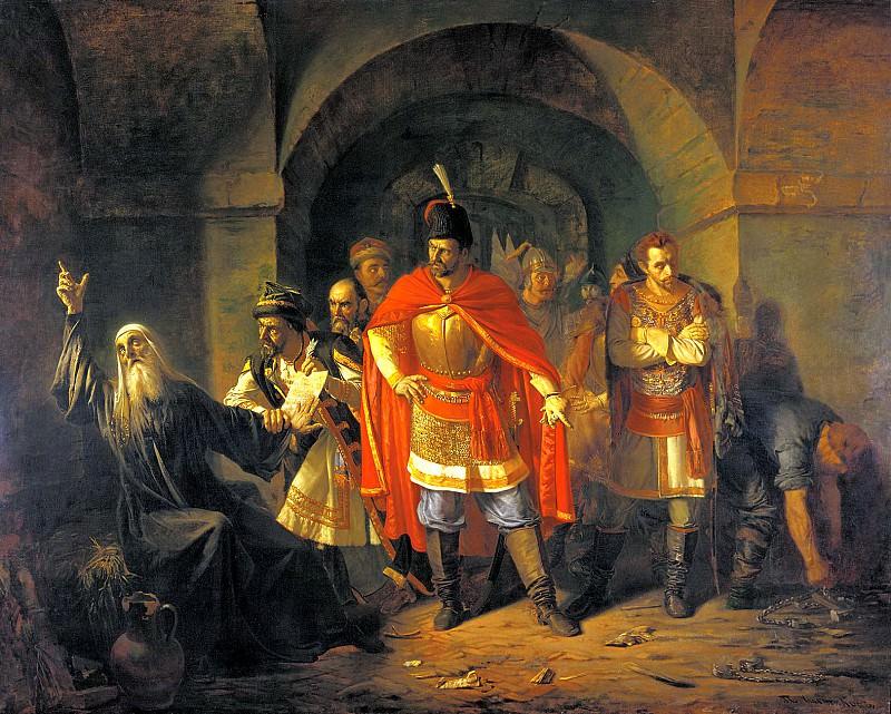 ЧИСТЯКОВ Павел - Патриарх Гермоген отказывает полякам подписать грамоту. 900 Картин самых известных русских художников