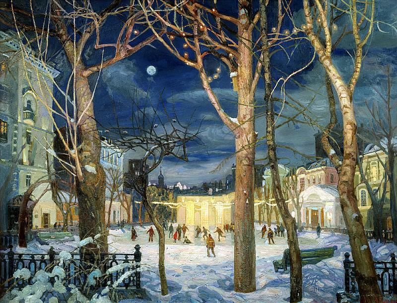 ПАВЛОВА Оксана - Каток. 900 Картин самых известных русских художников