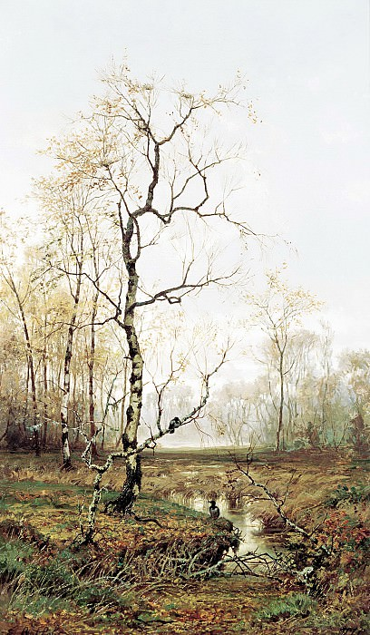 VOLKOV Yefim - In the woods. In spring. 900 Classic russian paintings