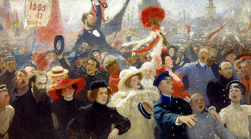 Manifestation. October 17, 1905. 1907. Modified in 1911. Ilya Repin