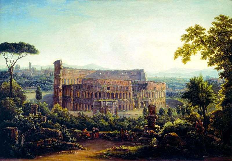 MATVEEV Fedor - Kind of Rome. Colosseum. 900 Classic russian paintings