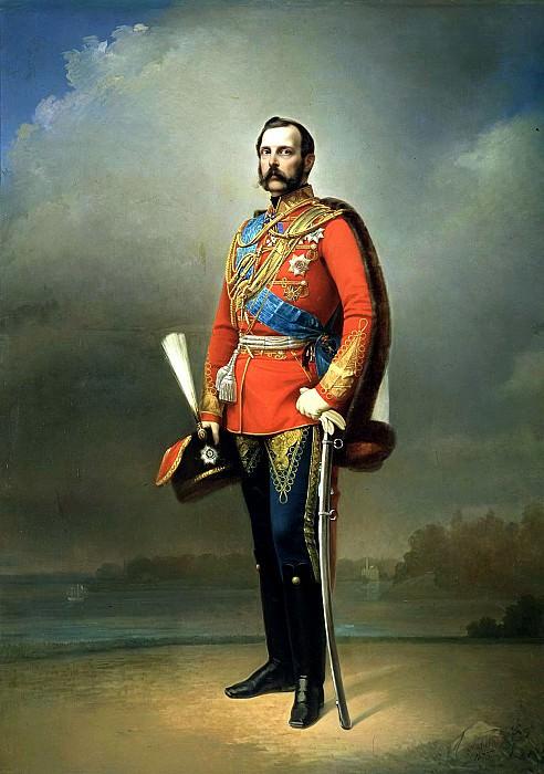 Nikolai Lavrov - Portrait of Emperor Alexander II. 1873. 900 Classic russian paintings