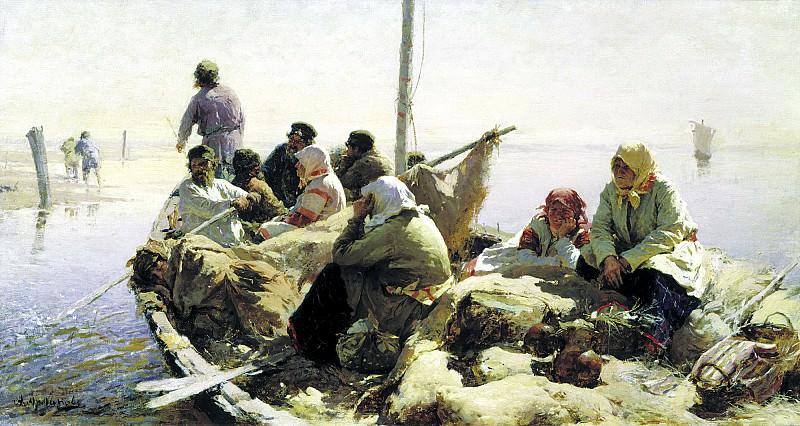 ARKHIPOV Abram - The river Oka. 900 Classic russian paintings