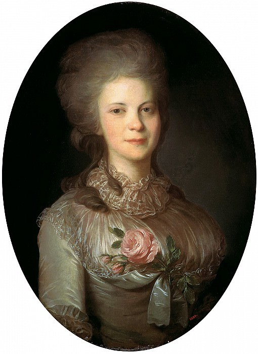 Rocot Fyodor - Portrait of Varvara Nikolaevna Surovtseva. 900 Classic russian paintings
