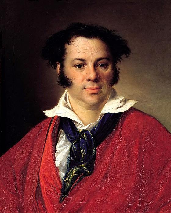 Tropinin Vasily - Portrait of Konstantin Georgievich Ravich. 1823. 900 Classic russian paintings