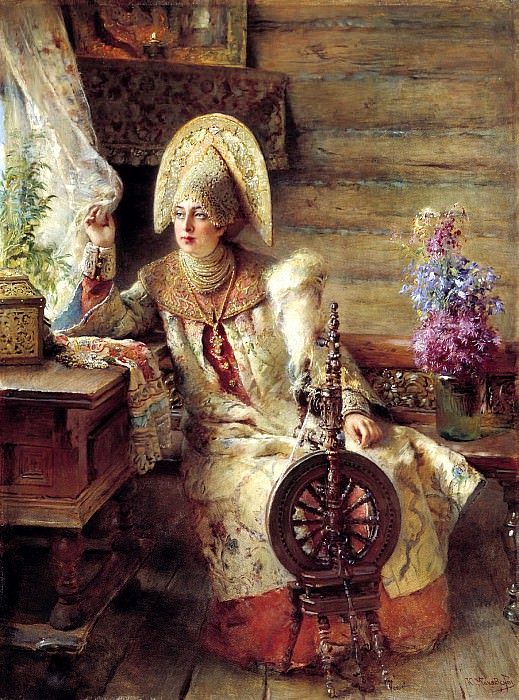MAKOVSKY Constantine - young ladies at the window. 900 Classic russian paintings