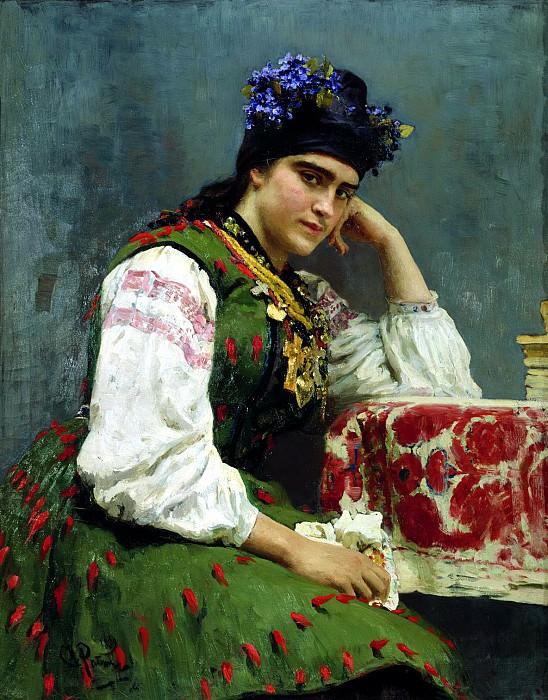 Ilya Repin - Portrait of Sophia. 900 Classic russian paintings