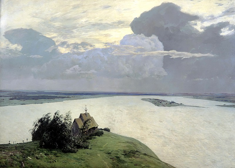 Isaak Levitan - Above the Eternal Peace. 900 Classic russian paintings