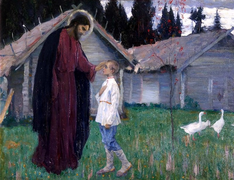NESTEROV Michael - Christ blessing the lad Bartholomew. 900 Classic russian paintings