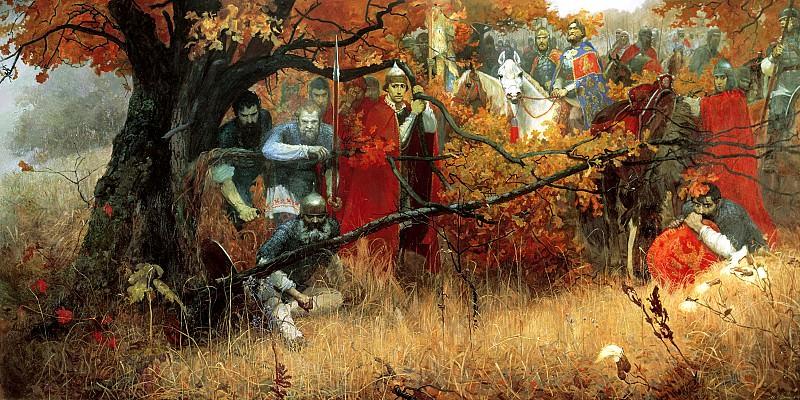 Shankov Michael - ambushed Regiment. 900 Classic russian paintings