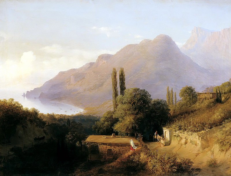Lagorio Lev - Crimean landscape. 900 Classic russian paintings