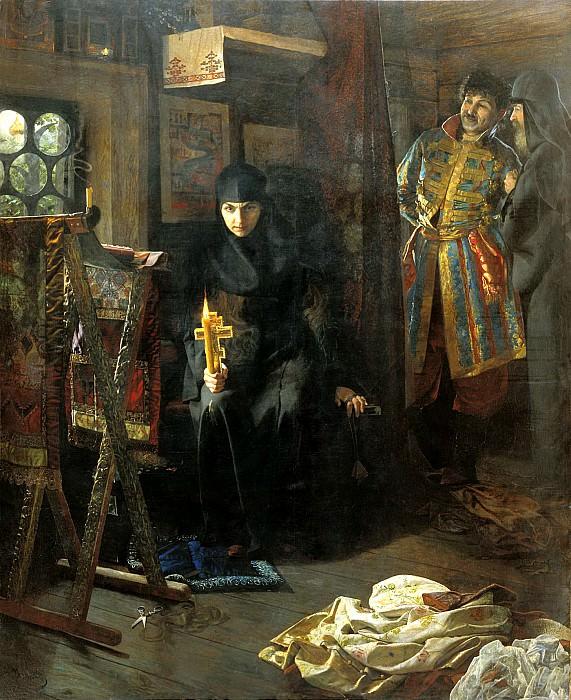 МАТВЕЕВ Николай - Против воли постриженная. 900 Картин самых известных русских художников