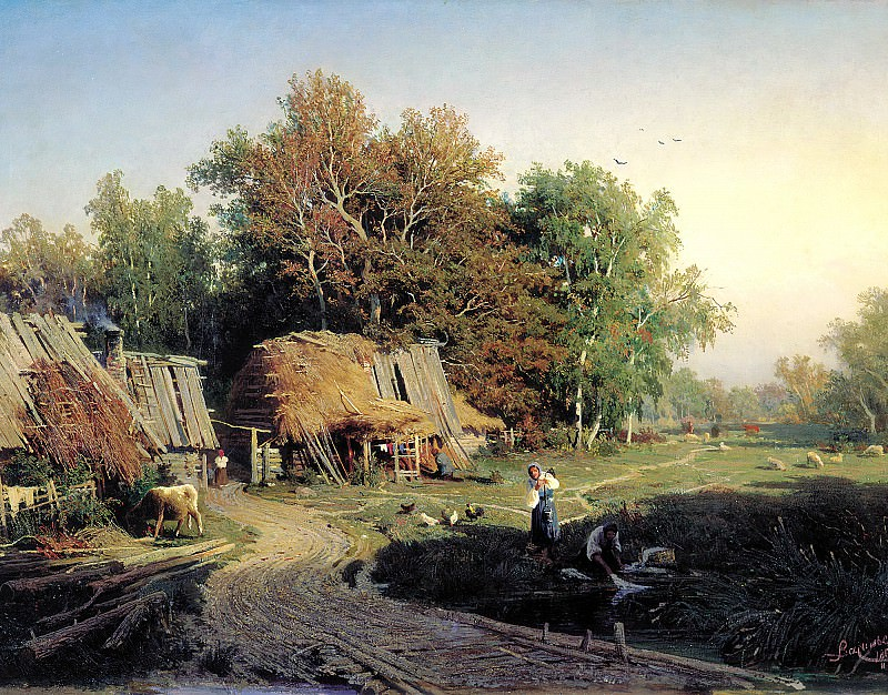 Fedor Vasiliev - Village. 900 Classic russian paintings