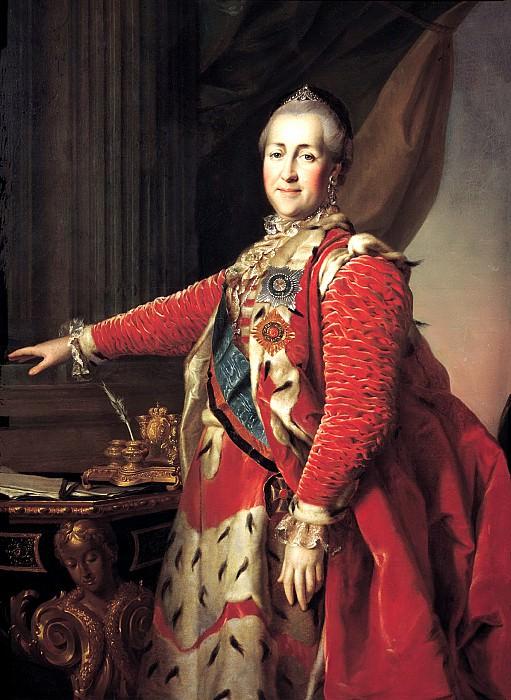 Levitsky Dmitry - Portrait of Catherine II. Okolo1782. 900 Classic russian paintings