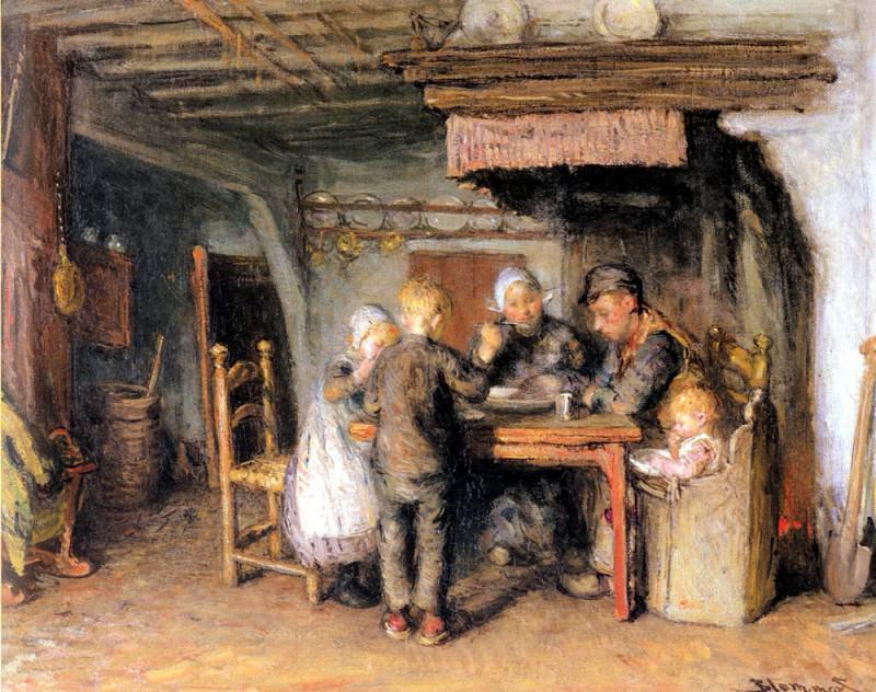 Бломмерс, Бернард - Семейный обед. Голландские художники