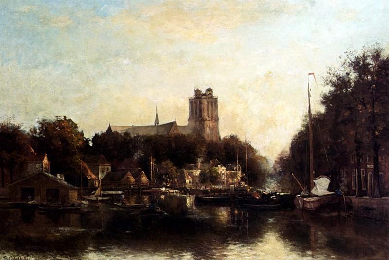 Фредерик Якоб ван Россум дю Шаттель - Небольшая гавань в Дордрехте. Голландские художники