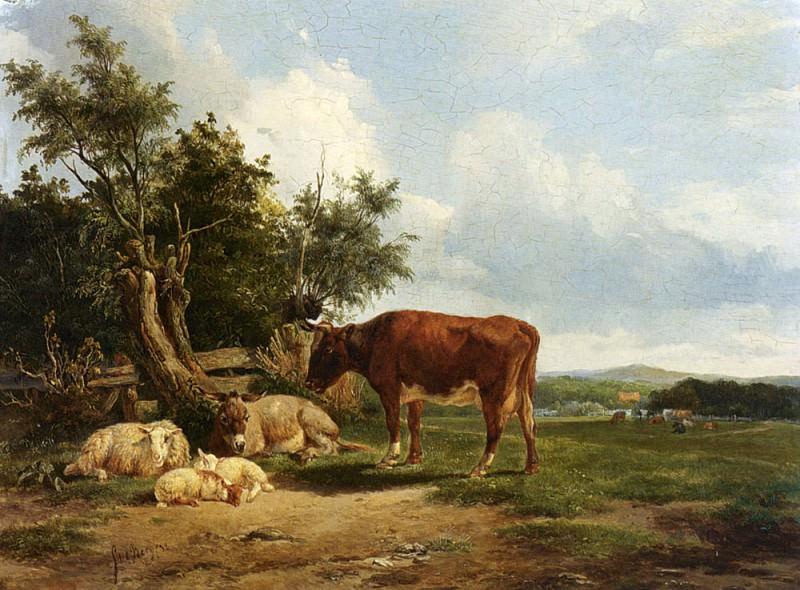 Berg Simon Van Den An Extensive Landscape With Cattle Resting. Dutch painters
