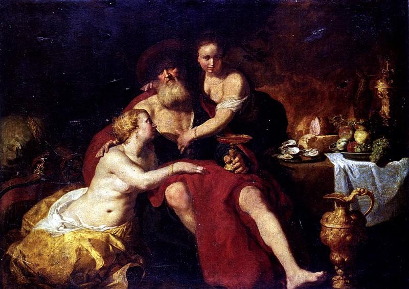 Bloemaert Hendrick Lot And His Daughters. Dutch painters