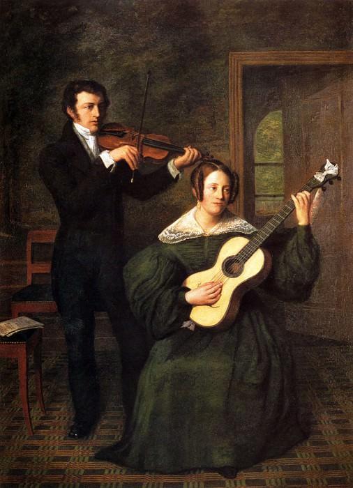 Buys Cornelis Bernudes The Duet. Dutch painters