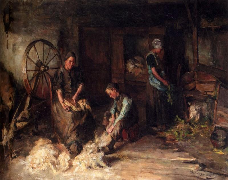 Laguana Baruch Leao Lopes De A Farm Interior With A Peasant Family. Голландские художники