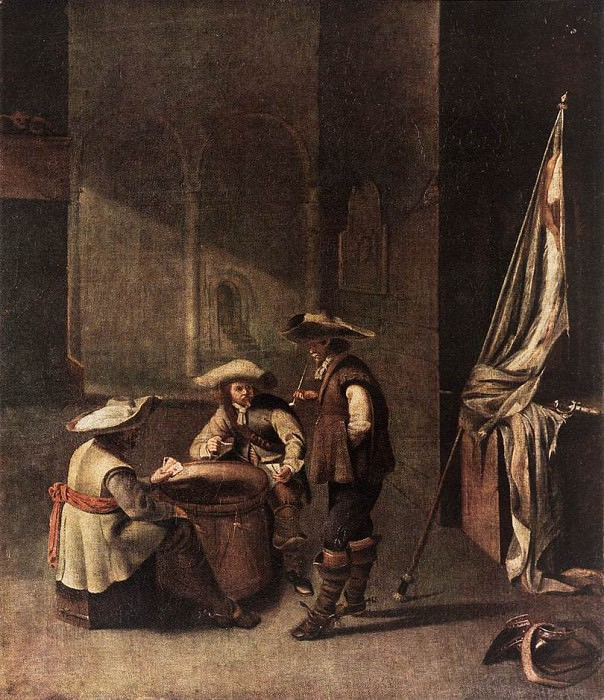 Guardroom with Soldiers Playing Cards WGA. Голландские художники