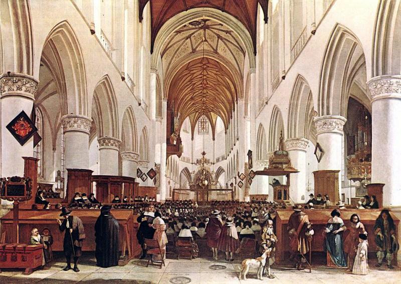 BERCKHEYDE Gerrit Adriaensz The Interior Of The Grote Kerk St Bavo At Haarlem. Dutch painters