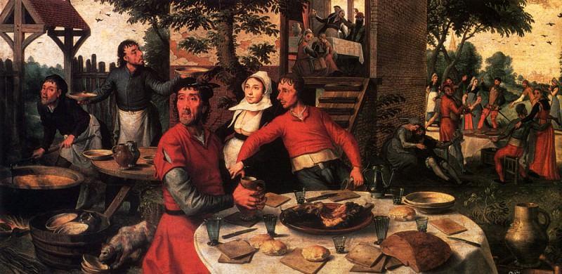 Aersten Pieter Peasant s Feast. Dutch painters