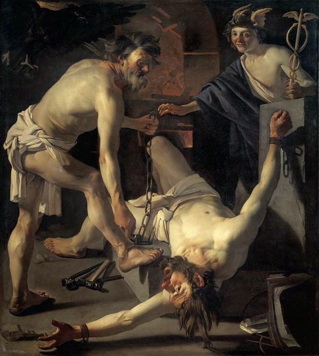 BABUREN Dirck van Prometheus Being Chained By Vulcan. Голландские художники