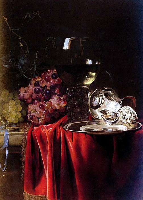 Van Aelst Willem A Still Life Of Grapes, A Roemer, A Silver Ewer And A Plate. Голландские художники