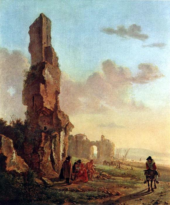 BOTH Jan Ruins At The Sea. Голландские художники