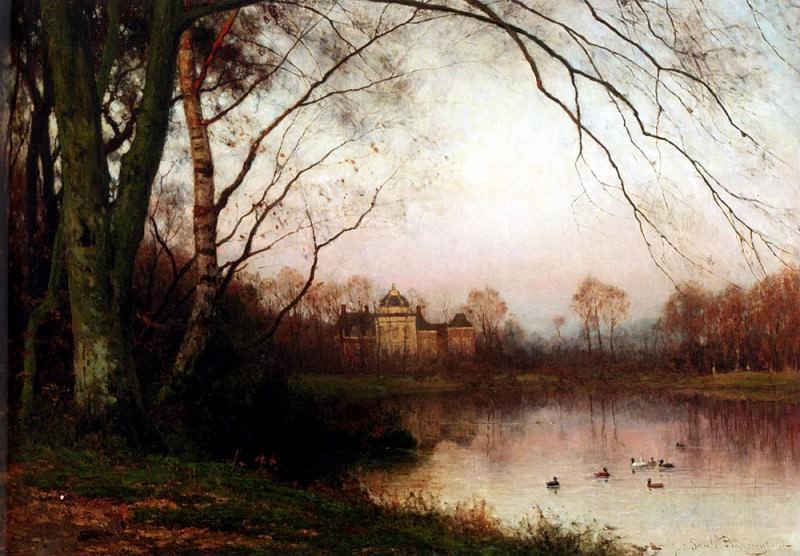 Bakhuyzen Julius Jacobus Van De Het Haagse Bos With Huis Ten Bosch In The Distance. Dutch painters
