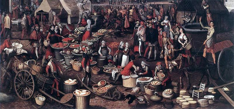 AERTSEN Pieter Market Scene 4. Голландские художники