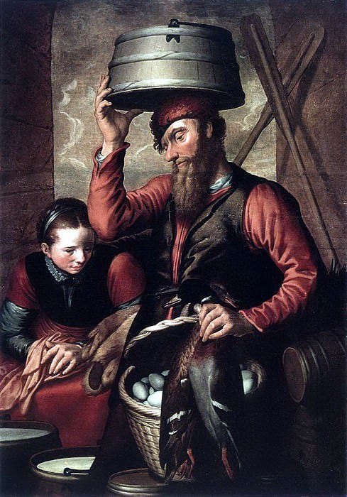 AERTSEN Pieter Vendor Of Fowl. Голландские художники