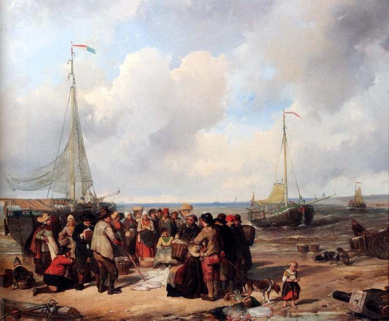 Kate Herman FrederikDe Afsclag Van Visch Aan Het Strand Te Scheveningen. Голландские художники