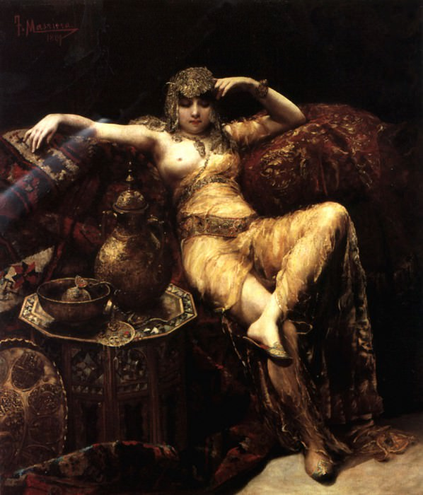 A Harem Beauty. Spanish artists