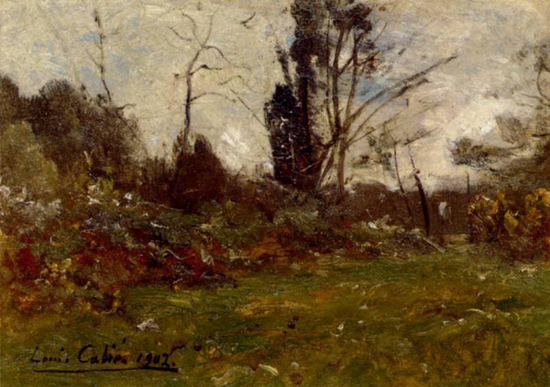 Cabie Louis Alexandre Woodland Landscape. Spanish artists