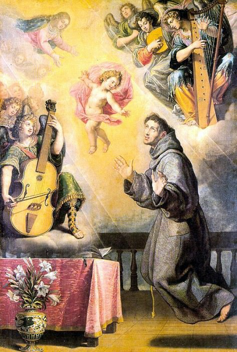 CARDUCHO Vicente The Vision Of St Anthony Of Padau. Spanish artists