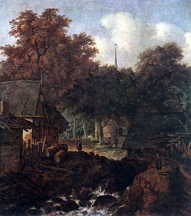 EVERDINGEN Allaert van End Of Village. Испанские художники
