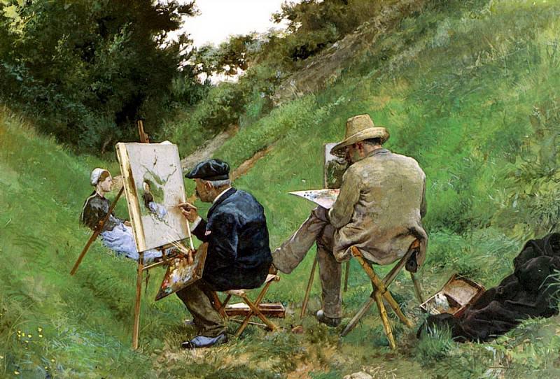 Aranda Jose Jimenez y Los Dos Pintores. Испанские художники