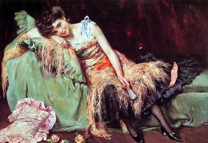 A Spanish Beauty. Spanish artists