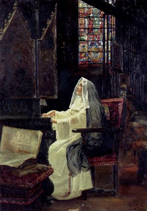 Arnosa Jose Gallegos y At Prayer. Spanish artists