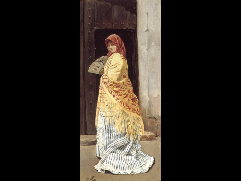 The Yellow Shawl. Spanish artists