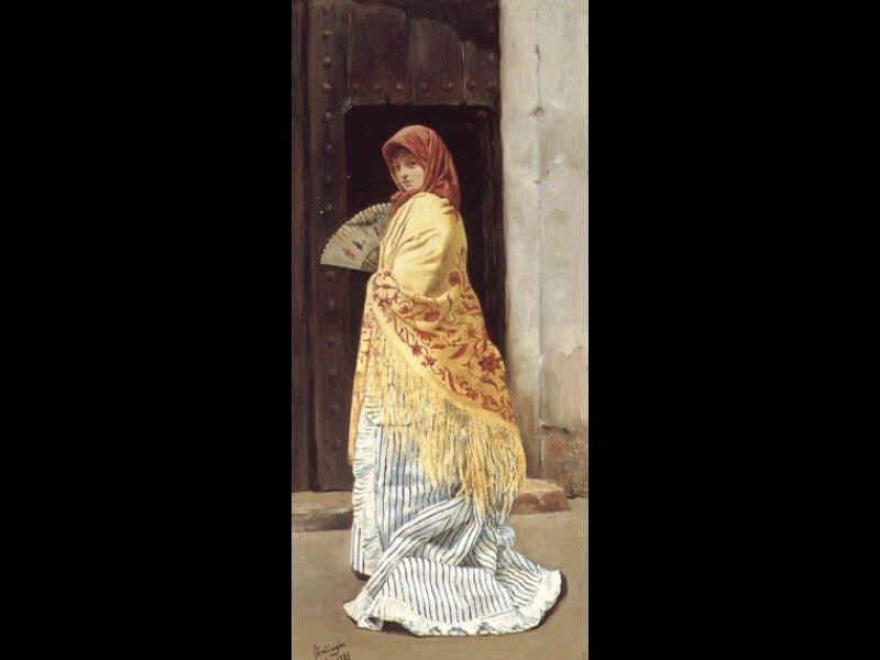 The Yellow Shawl. Испанские художники
