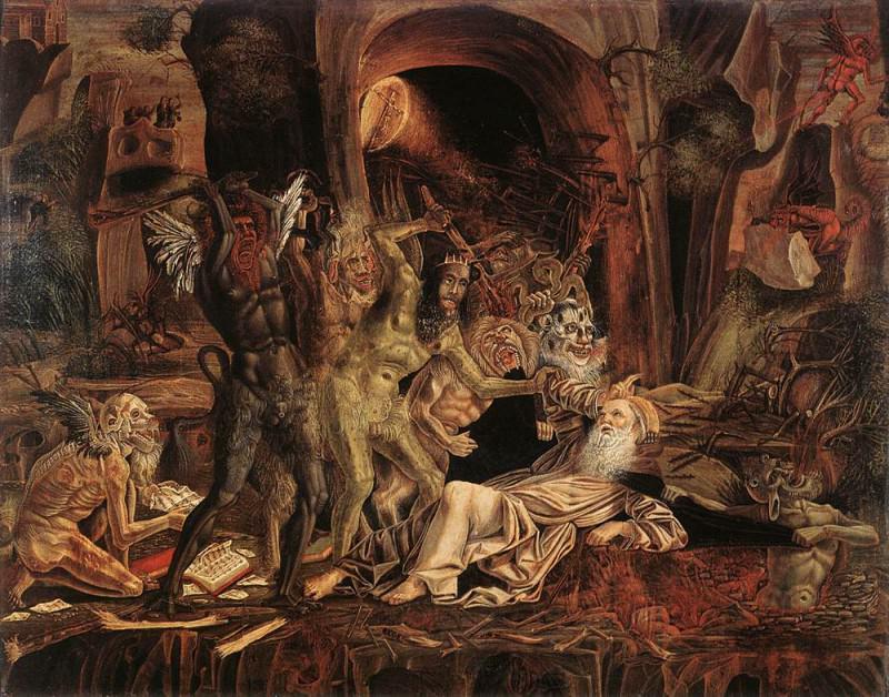 PARENZANO Bernardino Temptations Of St Anthony. Spanish artists